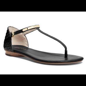 Michael Kors Flat T-Strap Sandals Sz 9.5